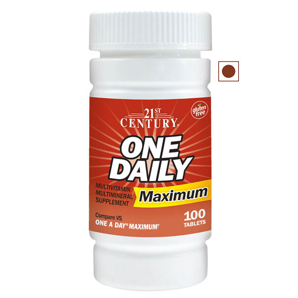 21st Century One Daily Maximum Multivitamin Multimineral, 100 Tablets