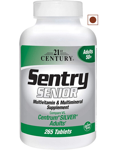 21st Century Sentry Senior Tablets, 265 Count