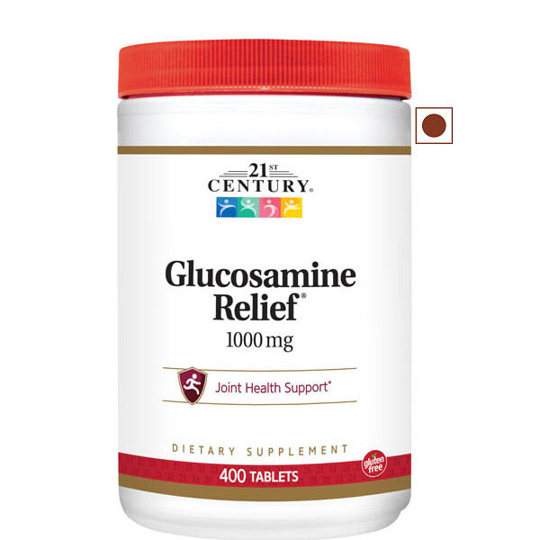 21st Century Glucosamine Relief 1000mg, 400 Tablets