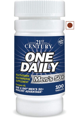 21st Century One Daily Men's 50+, 100 Tablets