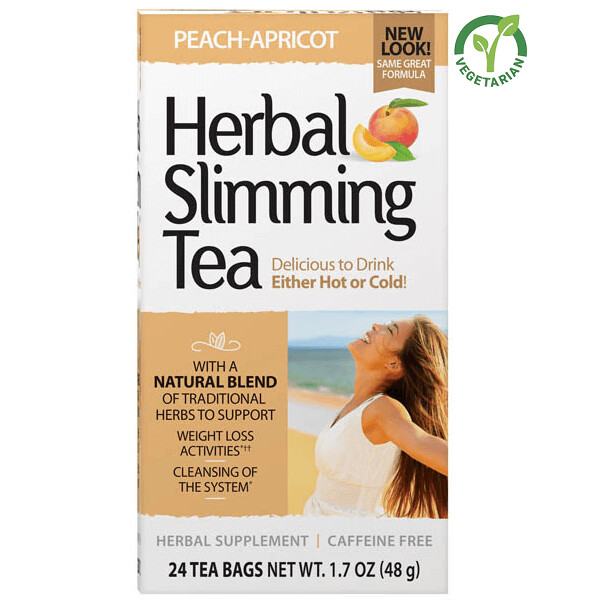 21st Century Herbal Slimming Tea Peach Apricot, 24 Tea Bags
