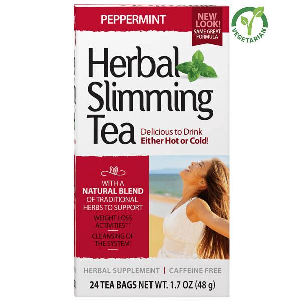 21st Century Herbal Slimming Tea Peppermint, 24 Tea Bags