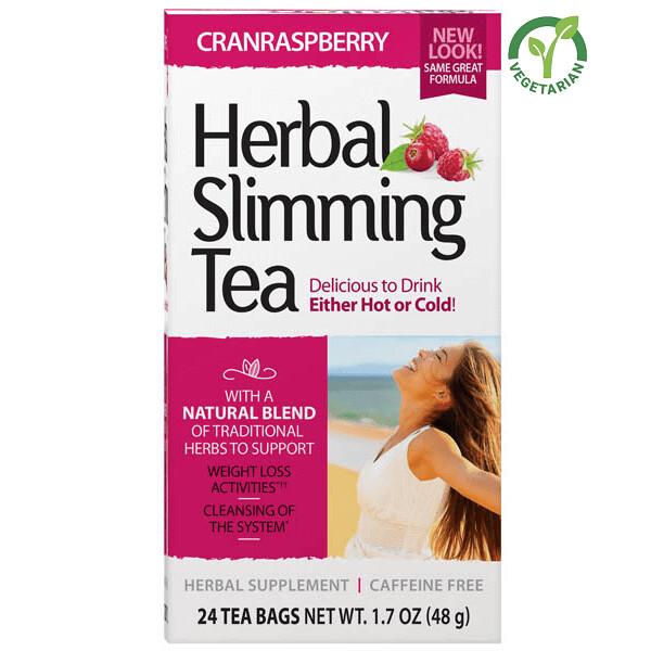 21st Century Herbal Slimming Tea CranRaspberry, 24 Tea Bags