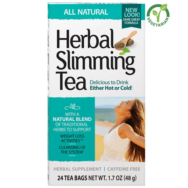 21st Century Herbal Slimming Tea All Natural, 24 Tea Bags