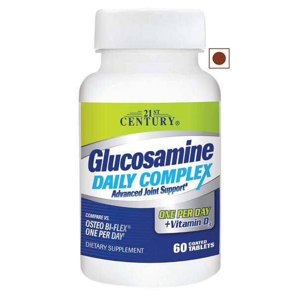 21st Century Glucosamine Daily Complex Plus Vitamin D, 60 Tablets