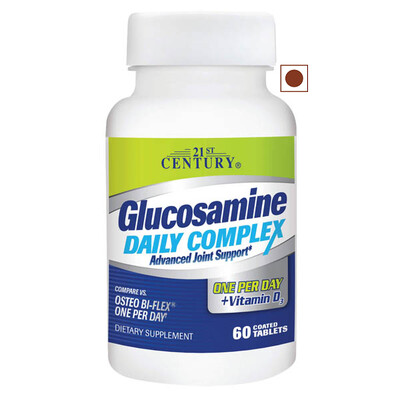 21st Century Glucosamine Daily Complex Plus Vitamin D, 60 Tablets