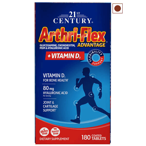 21st Century Arthriflex Advantage with Vitamin D, 180 Tablets