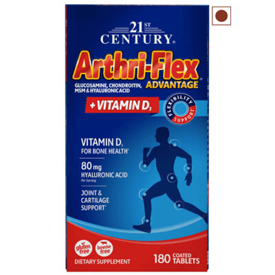 21st Century Arthriflex Advantage with Vitamin D, 180 Tablets