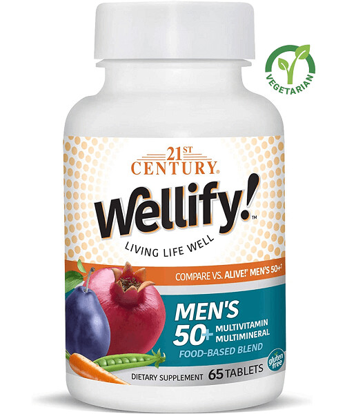 21st Century Wellify Men's 50+ Multivitamins with Minerals, 65 Tablets