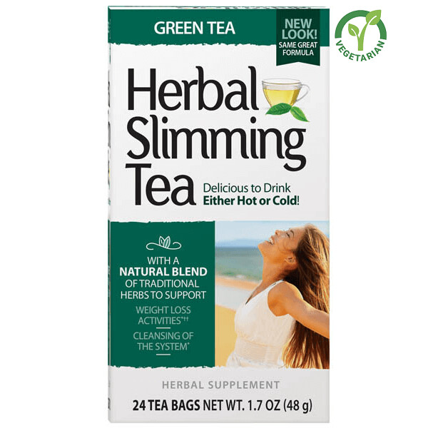 21st Century Herbal Slimming Tea Green Tea, 24 Tea Bags