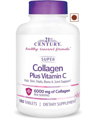 21st Century Super Collagen Plus Vitamin C, 180 Tablets