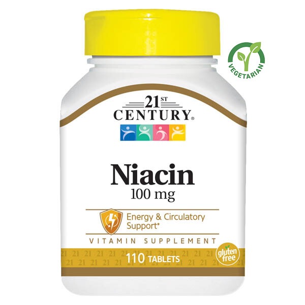 21st Century Niacin 100 mg, 110 Tablets