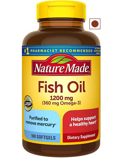 Nature Made, Fish Oil 1200 mg, 100 Softgels