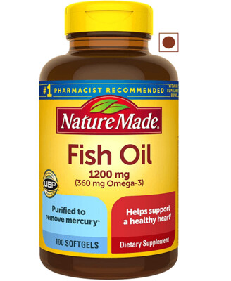 Nature Made, Fish Oil 1200 mg, 100 Softgels
