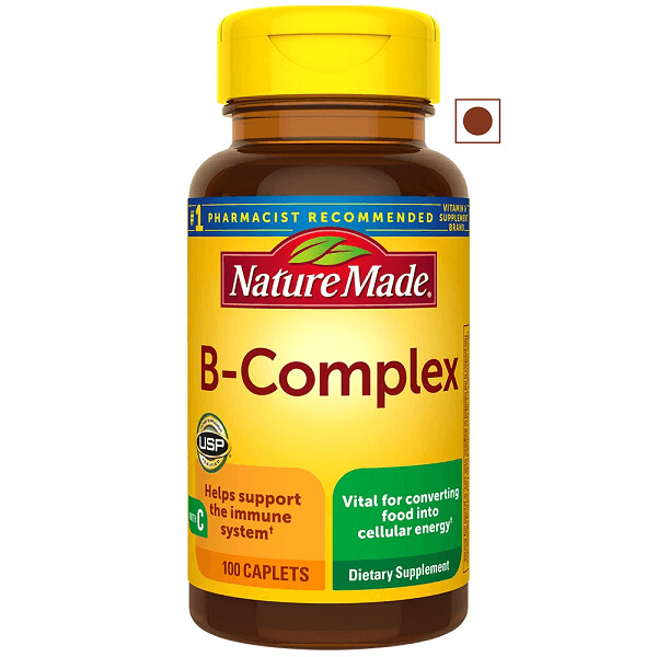 Nature Made B-Complex with Vitamin C, 100 Caplets
