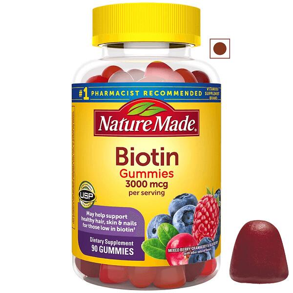 Nature Made Biotin 3000 mcg Gummies, 90 Count