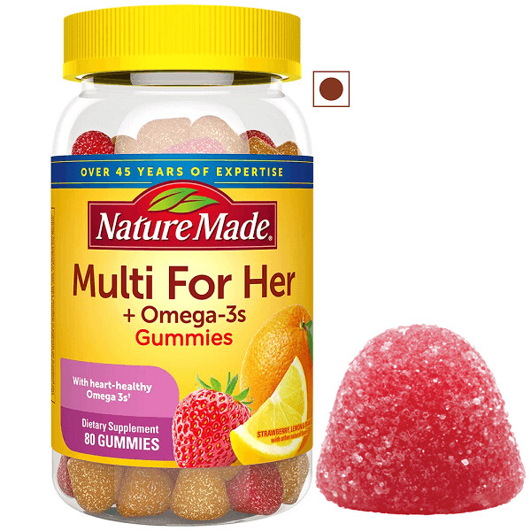 Nature Made Multi for Her + Omega-3, 80 Gummies