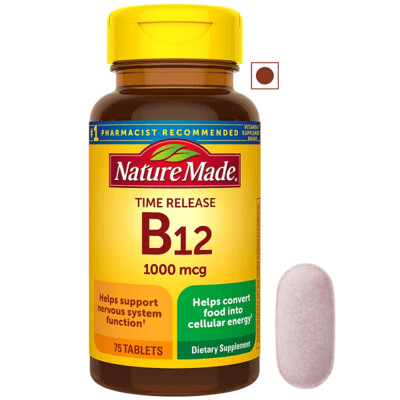Nature Made Vitamin B12 Time Release 1,000 mcg, 75 Tablets