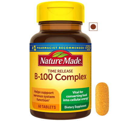 Nature Made Time Release B-100 Complex, 60 Tablets