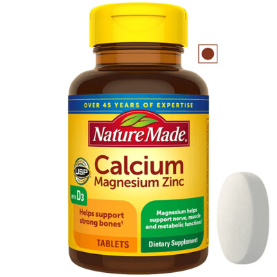 Nature Made® Calcium, Magnesium and Zinc with Vitamin D3, 100 Tablets