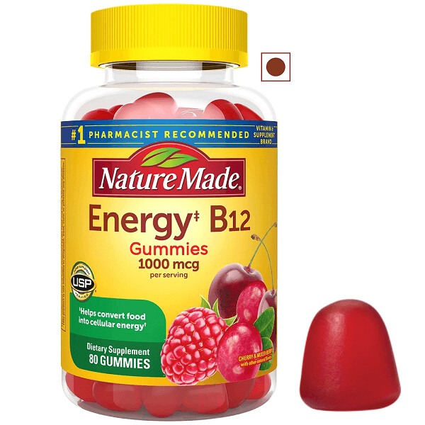 Nature Made Energy B12 1000 mcg Gummies, 80 Count