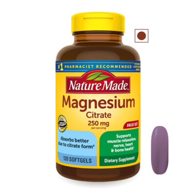 Nature Made® Magnesium Citrate 250 mg, 120 Softgels