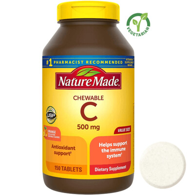 Nature Made Chewable Vitamin C 500 mg, 150 Tablets