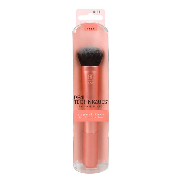 Real Techniques Professional Foundation Makeup Brush, For Even Streak Free Application, 1 Count
