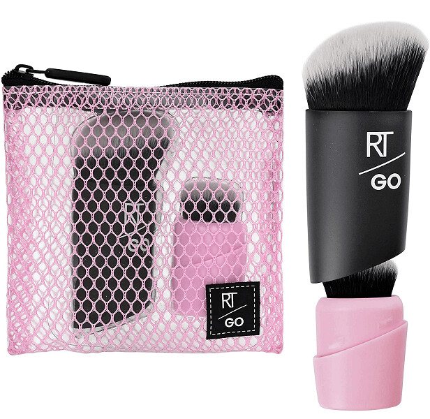Real Techniques RT Go! Makeup Brushes, Foundation and Highlighter, Set of 2