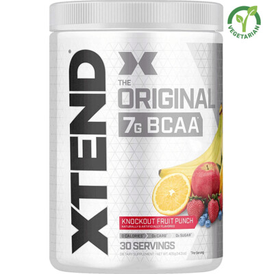 Scivation Xtend Original Bcaa, Knockout Fruit Punch, 30 Servings