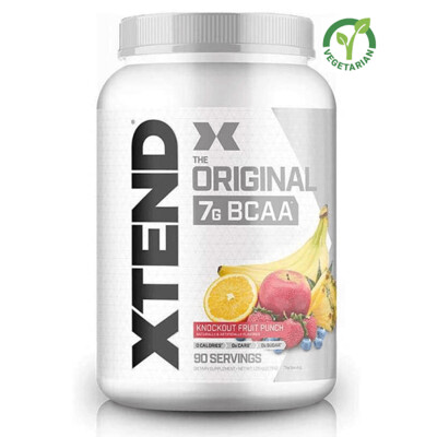 Scivation Xtend Original Bcaa, Knockout Fruit Punch, 90 Servings