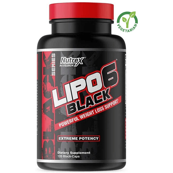 Nutrex Research Lipo-6 Black Extreme Potency, 120 Capsules