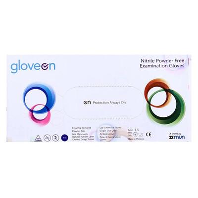 Gloveon Nitrile Powder Free Examination Gloves, Large, 100 Pieces