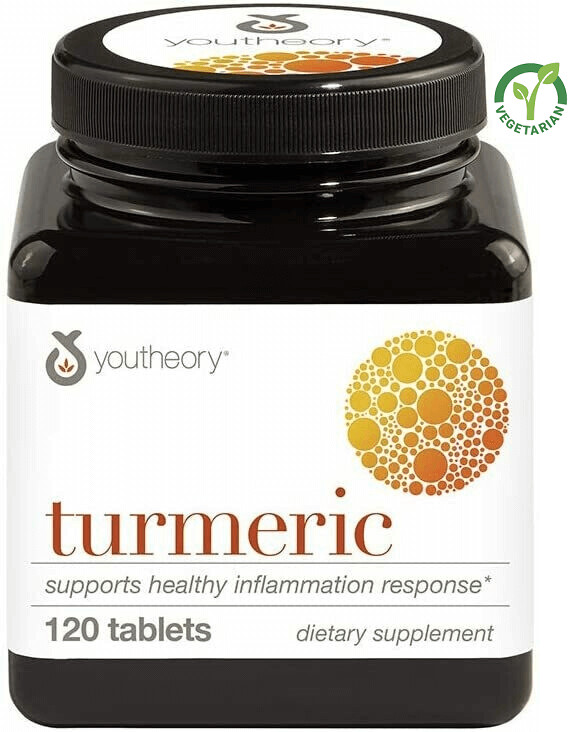 Youtheory Turmeric Advanced With Black Pepper Bioperine, 120 Tablets