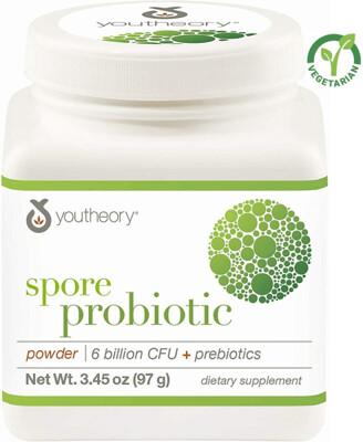 Youtheory Spore Probiotic Powder Advanced, White, 3.45 Ounce