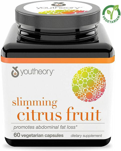 Youtheory Slimming Citrus Fruit with Chromium, 60 Vegetarian Capsules