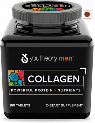 Youtheory Men's Collagen Advanced with Biotin, 160 Tablets