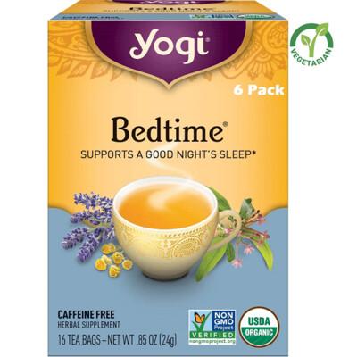 Yogi Bedtime Tea, Supports a Good Night's Sleep, 16 Bags/box, Pack of 6