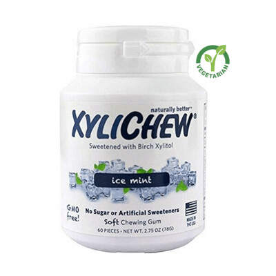 Xylichew Gum for Fresh Breath, Ice Mint, 60 Pieces