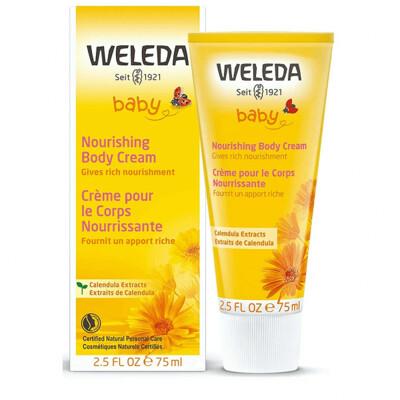 Weleda Baby Nourishing Calendula Body Cream, 2.5 fl Ounce