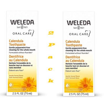 Weleda Calendula Toothpaste, 2.5 Ounce, Pack of 2