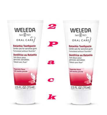 Weleda Ratahnia Toothpaste, 2.5 Ounce, Pack of 2