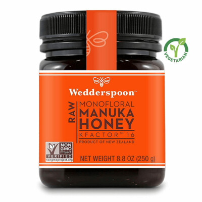 Wedderspoon Raw Manuka Honey KFactor 16, Unpasteurized, 8.8 Ounce