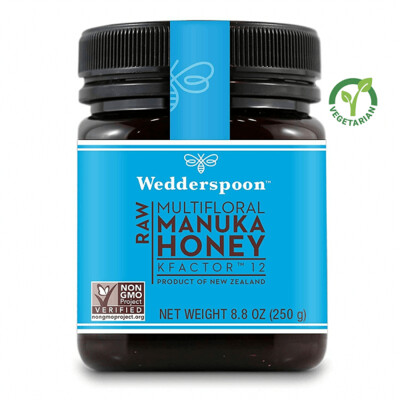Wedderspoon Raw Manuka Honey KFactor 12, Unpasteurized, 8.8 Ounce