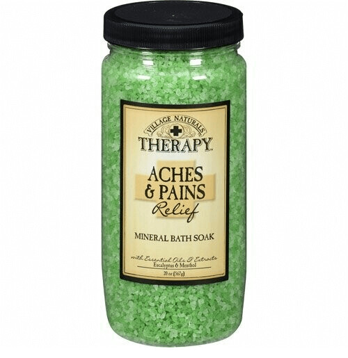 Village Naturals Therapy Aches and Pains Mineral Bath Soak, 20 Ounce