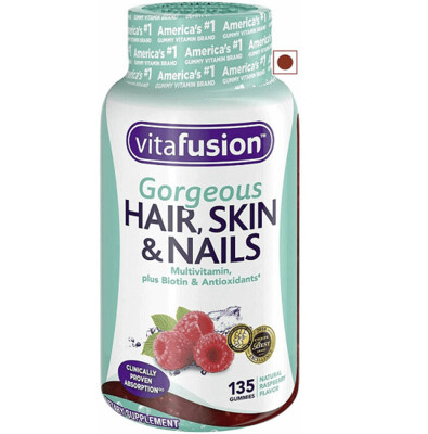 Vitafusion Gorgeous Hair, Skin and Nails Multivitamin Gummy Vitamins, 135 Count