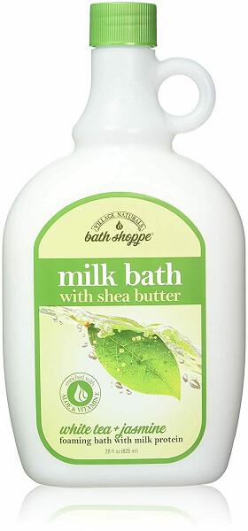 Village Naturals Bath Shoppe, Milk Bath, White Tea and Jasmine, 28 Fl Ounce