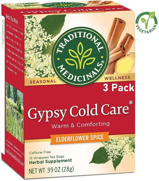Traditional Medicinals Gypsy Cold Care Seasonal Tea, 16 Tea Bags/Box, Pack of 3