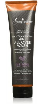 Shea Moisture Maracuja & Shea Butter Smokey Manhattan 4-in-1 All-over Body Wash, 10.3 fl Ounce