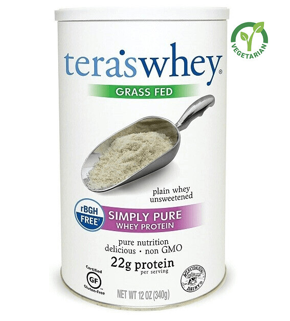 Tera's Whey Plain Protein, Unsweetened, 12 Ounce